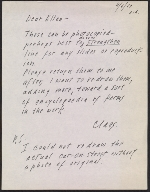 Claes Oldenburg letter to Ellen H. Johnson