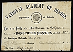 [National Academy of Design Certificate ]