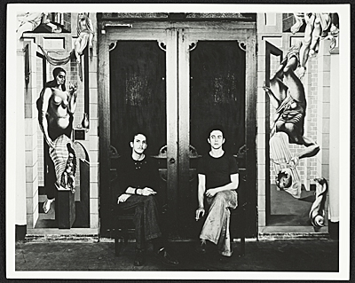 [Reuben Kadish and Philip Guston with their W.P.A. mural]