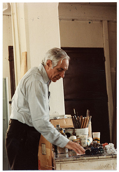 Jacob Kainen in his studio