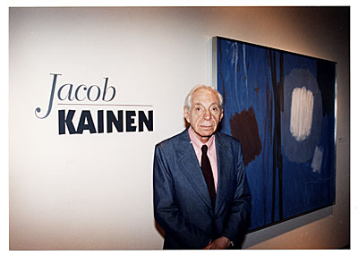 Jacob Kainen at the opening of his retrospective