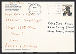 [Michael Clark, New York, N.Y. christmas card to Jacob Kainen, Chevy Chase, Md. verso 1]