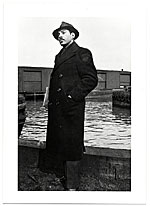 Jacob Kainen in coat and hat
