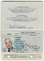 Jacob Kainen's Passport