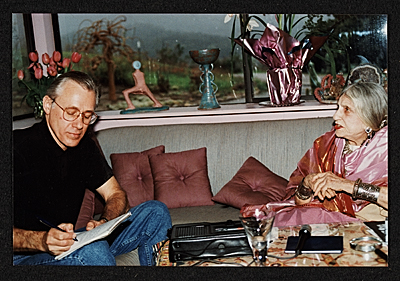 Beatrice Wood being interviewed by Paul Karlstrom
