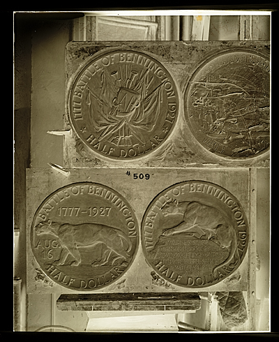 Molds for the Bennington Vermont commemorative half dollar