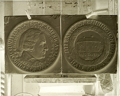 Molds for the Bennington, Vermont commemorative half dollar