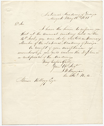 James Hamilton Shegogue to Miner K. (Miner Kilbourne) Kellogg.
