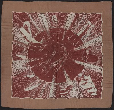 Moby Dick silk scarf designed by Rockwell Kent