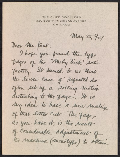 W. A. Kittredge letter to Rockwell Kent