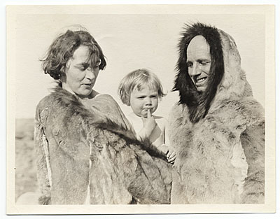 [The Rockwell Kent Family dressed in animal skins]