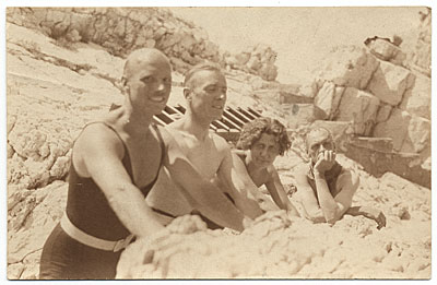 Rockwell Kent with others on a beach