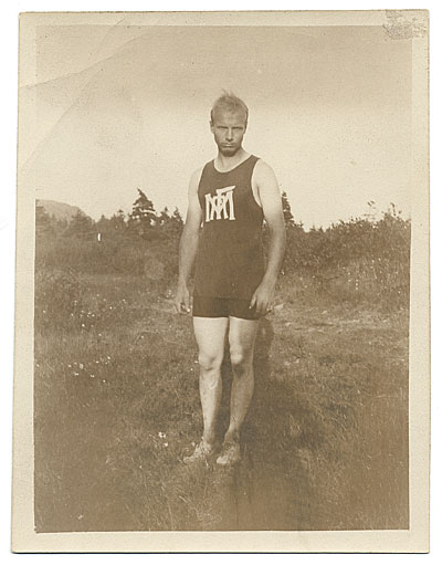 Rockwell Kent in a track uniform
