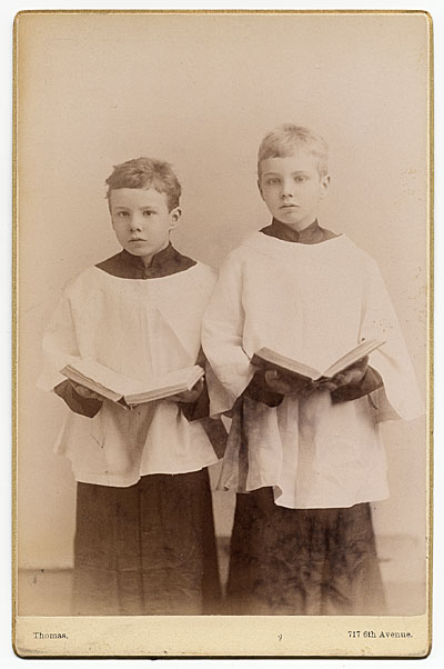[Rockwell Kent and his brother Douglas in choir uniforms]