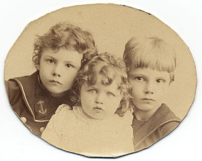 [Rockwell Kent and his brother Douglas and sister Dorothy]