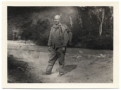 Rockwell Kent in hiking gear