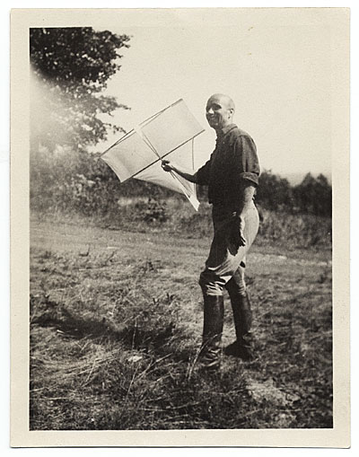 [Rockwell Kent with a kite]
