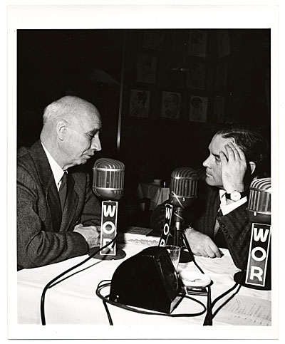 [Rockwell Kent during a radio interview]