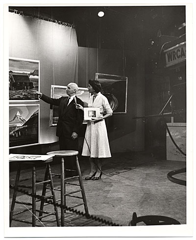 Rockwell Kent during a television interview