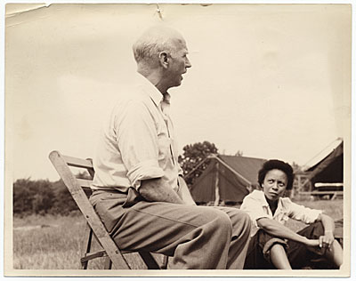 Rockwell Kent at a teen camp