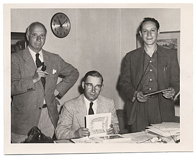 Rockwell Kent with two unidentified men