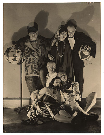 [Rockwell Kent and others dressed for a costume party]