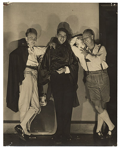 Rockwell Kent and others dressed for a costume party