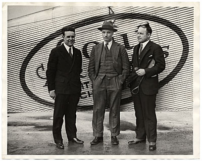 [Rockwell Kent and two unidentified men]