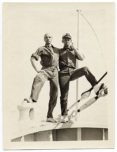 [Rockwell Kent and Ole Ytterock on a boat to Tierra Del Fuego]