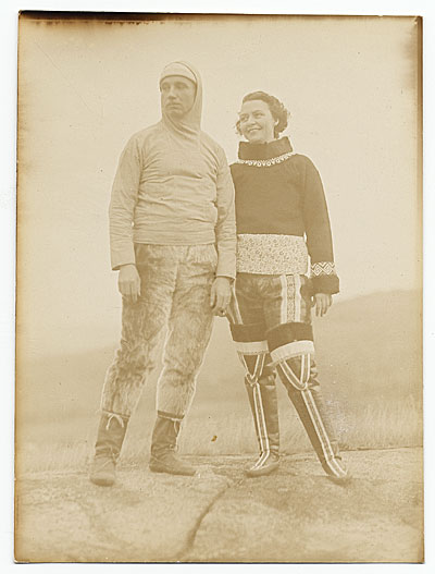 [Rockwell and Frances Kent in native dress]