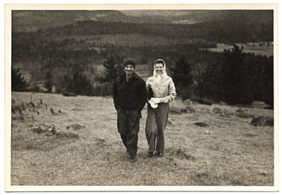 [Rockwell and Sally Kent hiking]