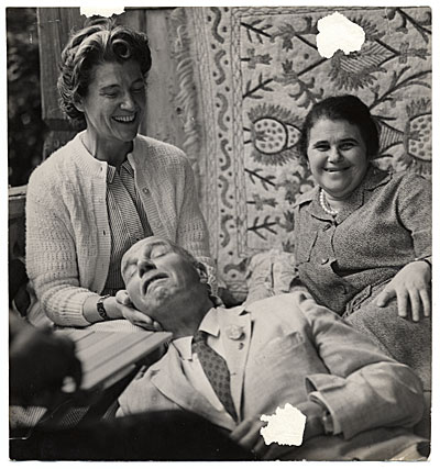 [Rockwell and Sally Kent at a party in Moscow]