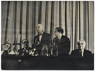 Rockwell Kent receiving the Lenin Peace Prize in Moscow