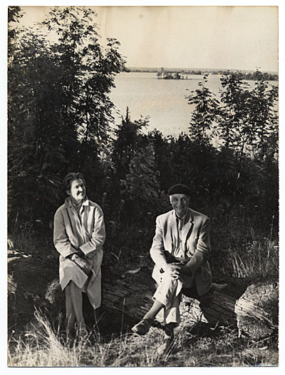 Rockwell and Sally Kent in the USSR