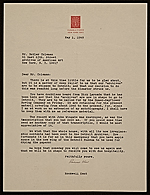 Rockwell Kent, Ausable Forks, N.Y. letter to Butler Coleman, New York, N.Y.