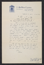 Rockwell Kent, Albany, N.Y. letter to Sally Kent Gorton, Au Sable Forks, N.Y.