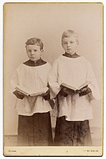 Rockwell Kent and his brother Douglas in choir uniforms