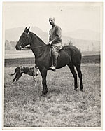 Rockwell Kent astride a horse