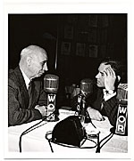 Rockwell Kent during a radio interview