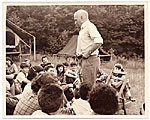 Rockwell Kent at a camp for teens