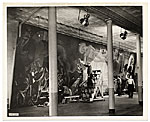 Rockwell Kent and assistants working on his mural for the Worlds Fair
