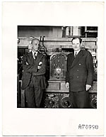 Rockwell Kent with GE radio and an unidentified man