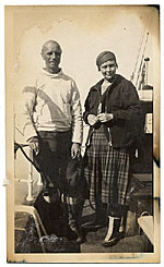 Rockwell and Frances Kent on the boat to Greenland