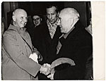 [Rockwell Kent meeting A. Deineka in Moscow ]