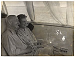 Rockwell and Sally Kent on a boat while visiting the USSR