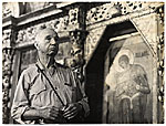 [Rockwell Kent in a local church during a visit to the USSR ]