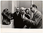 Rockwell Kent visiting an exhibition while in the USSR