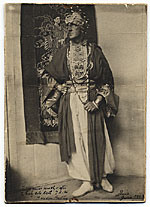 Marsden Hartley in costume