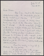 William Kienbusch, Trevett, Maine letter to Francis and Sydney Hamabe