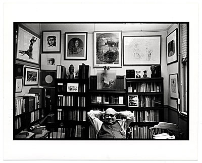 Harold Hugo sitting in his study